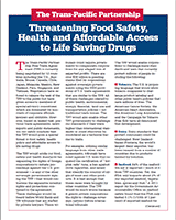 The TPP Threatens Food Safety, Health and Access to Life Saving Drugs=