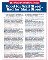 The TPP: Good for Wall Street, Bad for Main Street=