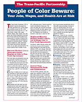 People of Color: Beware of the TPP=