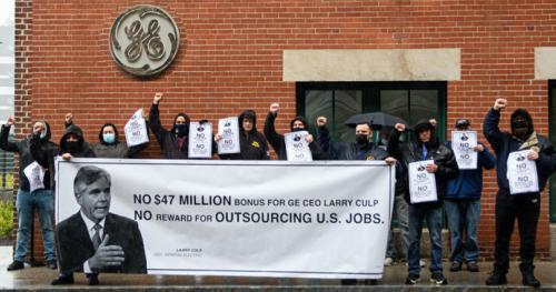 May 4 GE Protest CEO Pay