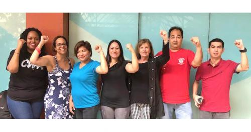 Brenda Roberts led a delegation of CWA members who work at AT&T to Manila.