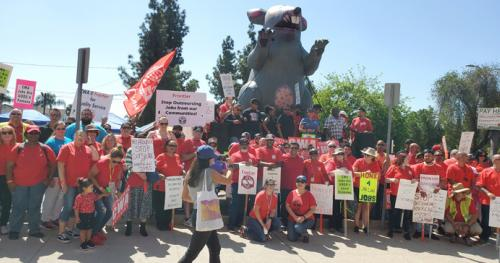 Scabby the Rat at Frontier Communications