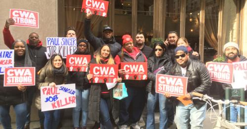 CWAers Protest Paul Singer