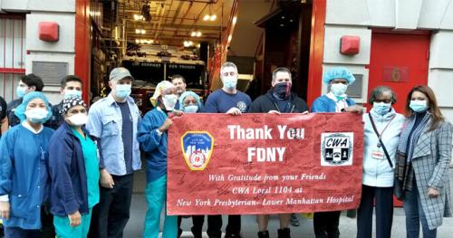 CWA District 1 Nurses Thank Firefighters