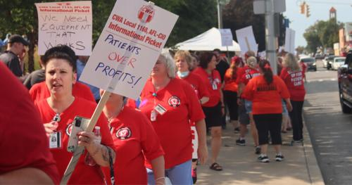 Healthcare Workers Picket